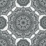 Muster schwarz/weiß indische Blüte - Pattern black / white Indian flower - Modèle noir / blanc la fleur indienne