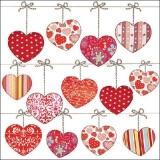 Herzen mit Schleife - Hearts with bow - Coeurs avec le noeud