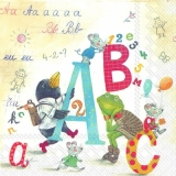 ABC - Schreiben lernen in der Schule mit Mäusen, Frosch, Rabe - ABC - learning at school with mice, frog, raven - ABC - apprentissage à lécole avec souris, grenouille, corbeau