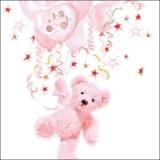 Teddybär, Ballons, Baby, Mädchen, rose - Plush bear, balloons, baby girl, pink - Ours en peluche, ballons, bébé, Fille, rose