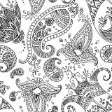 Indisches Muster, Paisley - Indian Pattern - Dessin indien