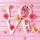 Liebe, Rosen, Buchstaben, Holz - Love, Roses, Letters, Wood - Amour, Roses, lettres, bois