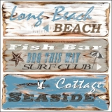 Strandschilder - Beach Signs, Long Beach, Fish Bar, Cottage Seaside - signes de plage