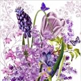 Hyazinthen, Iris, Flieder, Tulpe, Glockenblumen & Schmetterlinge - Hyacinths, irises, lilacs, tulips, bells & butterflies - Jacinthes, iris, lilas, tulipes, campanules et papillons