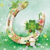 Viel Glück, Hufeisen, Glücksklee, Marienkäfer - Good luck, horseshoes, lucky clover, ladybird - Bonne chance, fers à cheval, trèfle à quatre feuilles, coccinelle