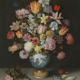 Blumenstrauß in Vase des Malers Ambrosius Bosschaert -  Bouquet of flowers in the vase of the artist Ambrosius Bosschaert - Bouquet dans un vase de lartiste Ambrosius Bosschaert
