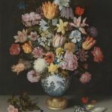 Blumenstrauß in Vase des Malers Ambrosius Bosschaert -  Bouquet of flowers in the vase of the artist Ambrosius Bosschaert - Bouquet dans un vase de lartiste Ambrosius Bosschaert