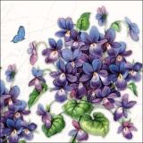 Schmetterlinge an Veilchensträußen - Butterlies & Violet Bouqets - Papillons et bouquets de violettes