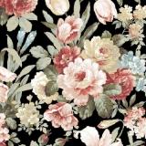 Betörende Rosen; Tulpen, Iris, Hortensien & andere Blumen, schwarz - Beautiful roses; Tulips, irises, hydrangeas & other flowers, black - De belles roses; Tulipes, iris, hortensias et autres fleurs ,