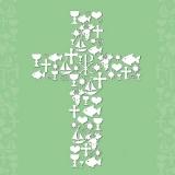 Religion, Kreuz, Kommunion  - Communion Ornaments - Ornements de communion
