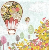 Ballons mit Blumenmuster - Balloons with flower pattern - Ballons avec le modèle de fleurs