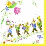 Hasen machen Musik & Blumen, Hasenparade, Osterparade - Hares make music & flowers, rabbit parade, Easter parade - Des lièvres font la musique & les fleurs, le défilé de lièvre, parade de Pâques