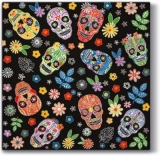 bunte Totenköpfe - colorful skulls - colorful skulls