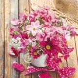 Hübscher, rosafarbener Blumenstrauß - Pretty, pink bouquet - Bouquet de fleurs joli, rose de couleur