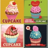 15 kleine Kuchen, Cupcakes & 1 St.  Schokoladenkuchen - 15 Muffins & 1 piece of chocolate cake - 15 petits gâteaux, tartes et 1 morceau de gâteau au chocolat