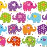 Viele lustige, bunte Elefanten - Many funny, colourful elephants - Beaucoup de plaisir, éléphant coloré
