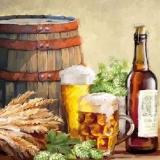 Bier, Wein, Hopfen, Ähren, Fass - Beer, wine, hops, ears, barrel - Bière, vin, houblon, oreilles, baril