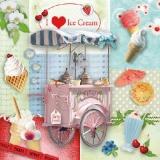 Ich liebe Eiscreme, Eisbecher - I love ice cream - Jadore la crème glacée, sundae