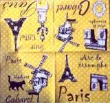 Paris, Eiffelturm, Cabaret, Katze... - Paris Eiffel Tower, Cat - PAris, Tour Eiffel, Cabaret, Chat,  Arc de Triumph