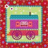 Bauwagen, Wohnwagen, Zigeunerwagen, Campingwagen - Caravan, Camping Caravan, Gypsy Caravan - Remorque, caravane, roulotte