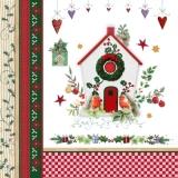 Rotkehlchenpaar mit Vogelhäuschen - Robin couple with birdhouse - Paire de rouge-gorge avec la maisonnette doiseau