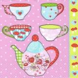 Bunte Tassen & Kanne - Colorful cups & pot - Tasses multicolores et pichet