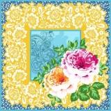 Wunderschönes Muster & Blumen - Beautiful pattern & flowers - Beau motif et fleurs