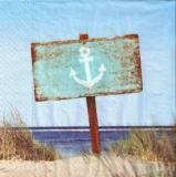 Ankerschild in den Dünen - Anchor sign in the dunes - Plaque d ancrage dans les dunes