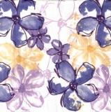 Blumen blau, lila & aprikot - Flowers blue, purple & peach - Fleurs bleu, pourpre et abricot