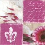 Französische Lilie, Blüte, Geschriebenes - Grand Parade, 64 Brixton Road - Fleur-de-Lys - Flower & Writing - Fleur-de-Lis - Fleur & écriture