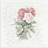 Rosen auf einem Brief - Roses on a letter - Roses sur une lettre