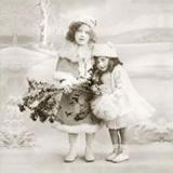 2 nostalgische Mädchen im Winter - 2 vintage girls in winter - 2 fille nostalgique en hiver