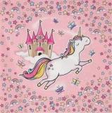 Einhorn mit Schloß, Schmetterlingen & Sternen im Regenbogenland - Unicorn with castle, butterflies and stars in the rainbow land - Licorne avec le château, les papillons et les étoiles dans le pays de