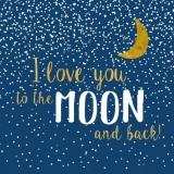 Ich liebe Dich bis zum Mond und wieder zurück - I love you to the Moon and back - Je taime à la folie