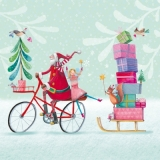 Viele Tier & Fee helfen dem Weihnachtsmann - Man animals and Fairy helping Santa Claus - Beaucoup danimal & fée aident pere de Noël