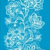 Weißes Spitzenblumenmuster auf türkis - White Flower Lace pattern on turquoise - Modèle de dentelle de fleurs blanc sur turquoise