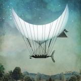 Das Phantasiemondschiff - the phantasy moon ship - Le navire de la lune imagination