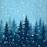 Winternacht im Tannenwald - Winter night in the fir forest - Nuit dhiver dans la forêt de sapins