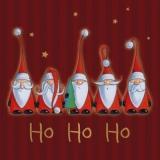 5 Weihnachtsmänner mit verschiedenen Bärten - 5 Santa Claus with different beards - 5 Père Noël avec différentes barbes
