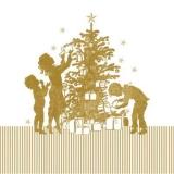 Kinder am Weihnachtsbaum - Children at the christmas tree - Enfants à larbre de Noël