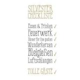Silvester Checkliste - New Years Eve Checklist - - Liste de contrôle du Nouvel An