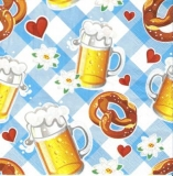 Bier, Brezel, Herzen, Edelweiß, Bayern, Oktoberfest, Maß und Brezn - Beer, pretzel, hearts, edelweiss, Bavaria-Munich-Oktoberfest, October party - Bière, bretzel, coeurs, edelweiss, Bavarois-Munich-Ok