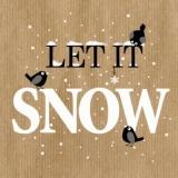 3 kleine Vögel im Schnee - Let it snow, 3 little birds - 3 petits oiseaux dans la neige