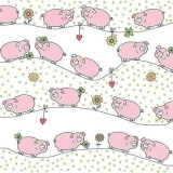 Viele Schweine, Glücksschweine, Glücksklee, Silvester - Many pigs, lucky pigs, lucky clover, New Year Eve - Beaucoup de cochons, cochons chanceux, trèfle chanceux, Nouvel An