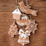 Leckere, dekorative, selbstgebackene Weihnachtsplätzchen, Kekse - Delicious, decorative, homemade Christmas biscuits - Biscuits de Noël délicieux, décoratifs et faits maison