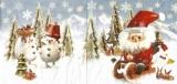Berge, Schlittenfahrt, Weihnachtsmann, Schneemänner, Tiere, Tannen... - Mountains, sleigh ride, Santa Claus, snowmen, animals, firs ... - Montagnes, promenade en traîneau, Père Noël, bonhommes de neig