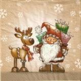 Weihnachtsmann & Rentier - Father Chritmas & Reindeer - Père Noël et rennes