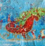 Großer Weihnachtsschlitten mit Weihnachtsmann, Engeln, Schneemann, Pinguin...... -  Big Christmas sleigh with Santa Claus, angels, snowman, penguin ...... - Grand traîneau de Noël avec Père Noël, ange