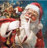 Pssst, der Weihnachtsmann ist da mit seinen Geschenke - Pssst, Santa Claus is here with his presents - Pssst, le Père Noël est ici avec ses cadeaux