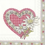 Edelweiss und Herz im Landhausstil - Edelweiss and heart in country style - Edelweiss et coeur dans le style campagnard